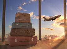 airplane and luggage, how your home insurance protects you while on vacation